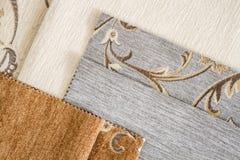 Закройте вверх по детали Multi образцов текстуры ткани цвета Стоковые Изображения RF