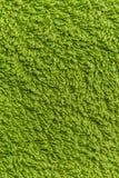 Закройте вверх по зеленой текстуре ватки Справочная информация Стоковое Изображение