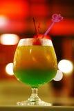 Закройте вверх по зеленому коктеилю от лимона Стоковая Фотография RF