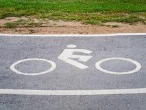 Закройте вверх по знаку майны велосипеда Стоковая Фотография