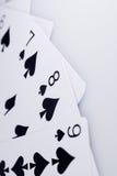 Закройте вверх по играя карточкам Стоковые Изображения