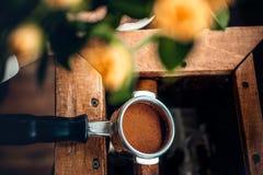 Закройте вверх по изображению бака кофе Стоковые Фотографии RF