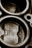 Цилиндровый блок автомобиля, поршень автомобиля Стоковые Фото