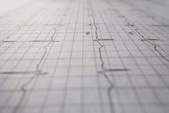 Закройте вверх по испытанию сердцебиения ekg Стоковое фото RF