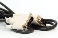 Закройте вверх по кабелю VGA для монитора Стоковое Фото
