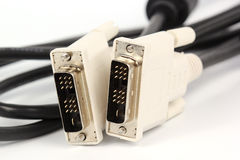 Закройте вверх по кабелю VGA для монитора Стоковое Изображение RF