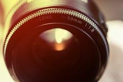 Закройте вверх по камере объектива Стоковое фото RF