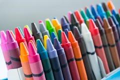 Закройте вверх по комплекту Crayons Стоковое фото RF
