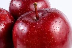 Закройте вверх по красным яблокам Стоковое фото RF
