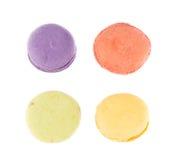 Закройте вверх по красочному macaron стоковое изображение rf