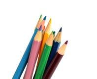 Закройте вверх по макросу снятому nibs карандаша кучи карандаша цвета Стоковые Изображения RF