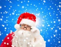 Закройте вверх подмигивать Санта Клауса Стоковое Фото