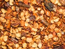 Закройте вверх по накаленной докрасна текстуре перца chili Стоковые Фотографии RF