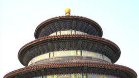 Закройте вверх по наклону к Temple of Heaven от задней части в Пекине сток-видео