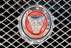 Закройте вверх по логотипу ягуара на бампере Стоковое фото RF