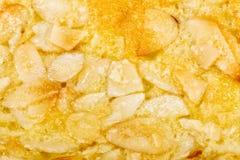 Закройте вверх по домодельному печенью миндалины на белизне Стоковая Фотография RF