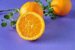 Закройте вверх по отрезанной половине апельсина пупка Стоковое Изображение RF
