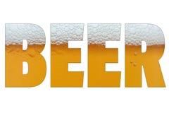 Закройте вверх по падениям льда - холодной пинты пива Стоковое Изображение RF