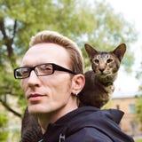 Закройте вверх по портрету кота внешнему стоковая фотография rf