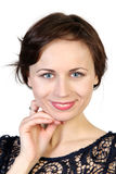 Закройте вверх по портрету молодой девушки красотки Стоковое Изображение