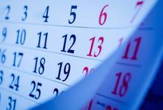 Закройте вверх по портрету номеров календаря Стоковые Фото