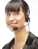 Закройте вверх по портрету работника обслуживания клиента женщины стоковое изображение rf