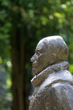 Закройте вверх по портрету статуи Willem фургона Oranje Prinsenhof Делфта Стоковое фото RF