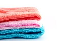 Закройте вверх по полотенцу чистки Стоковое Изображение