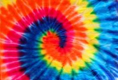 Закройте вверх по предпосылке картины ткани краски связи Стоковые Фотографии RF