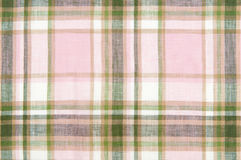 Закройте вверх по проверенной ткани Стоковые Изображения RF