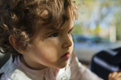 Закройте вверх по ребёнку с лучем света Стоковая Фотография RF