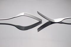 Закройте вверх по серебряной вилке Стоковое Изображение RF