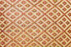 Закройте вверх по сплетенным бамбуковым сумкам и basketry картины проходя на indentity общины Стоковое Изображение RF