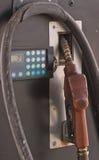 Закройте вверх по старым соплам газового насоса Стоковое Фото