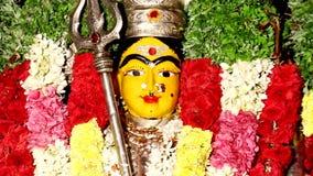 Закройте вверх по статуе индусской богини, сток-видео