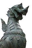 Закройте вверх по статуе льва стоковые изображения rf