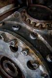 Закройте вверх по съемке двигателя поршеня самолета Второй Мировой Войны Стоковая Фотография RF