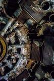 Закройте вверх по съемке двигателя поршеня самолета Второй Мировой Войны Стоковые Изображения RF