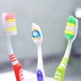 Закройте вверх по съемке зубной щетки. Стоковые Фотографии RF
