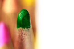 Закройте вверх по съемке карандаша цвета Стоковое фото RF