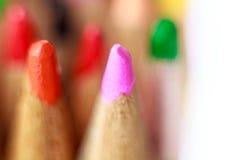 Закройте вверх по съемке карандаша цвета Стоковое Изображение