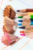 Закройте вверх по съемке карандаша цвета Стоковые Фото