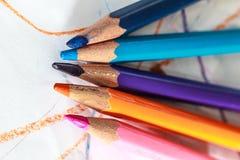 Закройте вверх по съемке карандаша цвета Стоковые Изображения
