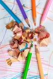 Закройте вверх по съемке карандаша цвета Стоковое Фото