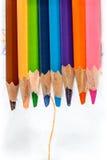 Закройте вверх по съемке карандаша цвета Стоковая Фотография