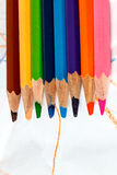 Закройте вверх по съемке карандаша цвета Стоковые Изображения RF