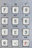 Закройте вверх по съемке калькулятора Стоковые Изображения