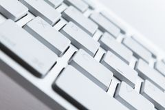 Закройте вверх по съемке ключей клавиатуры компьютера Стоковые Фотографии RF