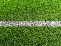 Закройте вверх по съемке футбольного поля, боковой линии Стоковые Фото