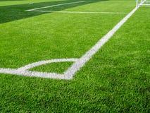 Закройте вверх по съемке футбольного поля, боковой линии Стоковое Изображение
